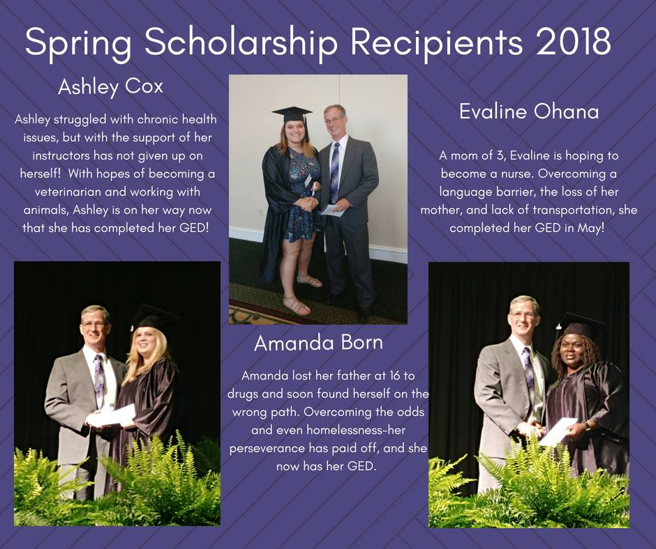 May 2018 Scholarship Presentations