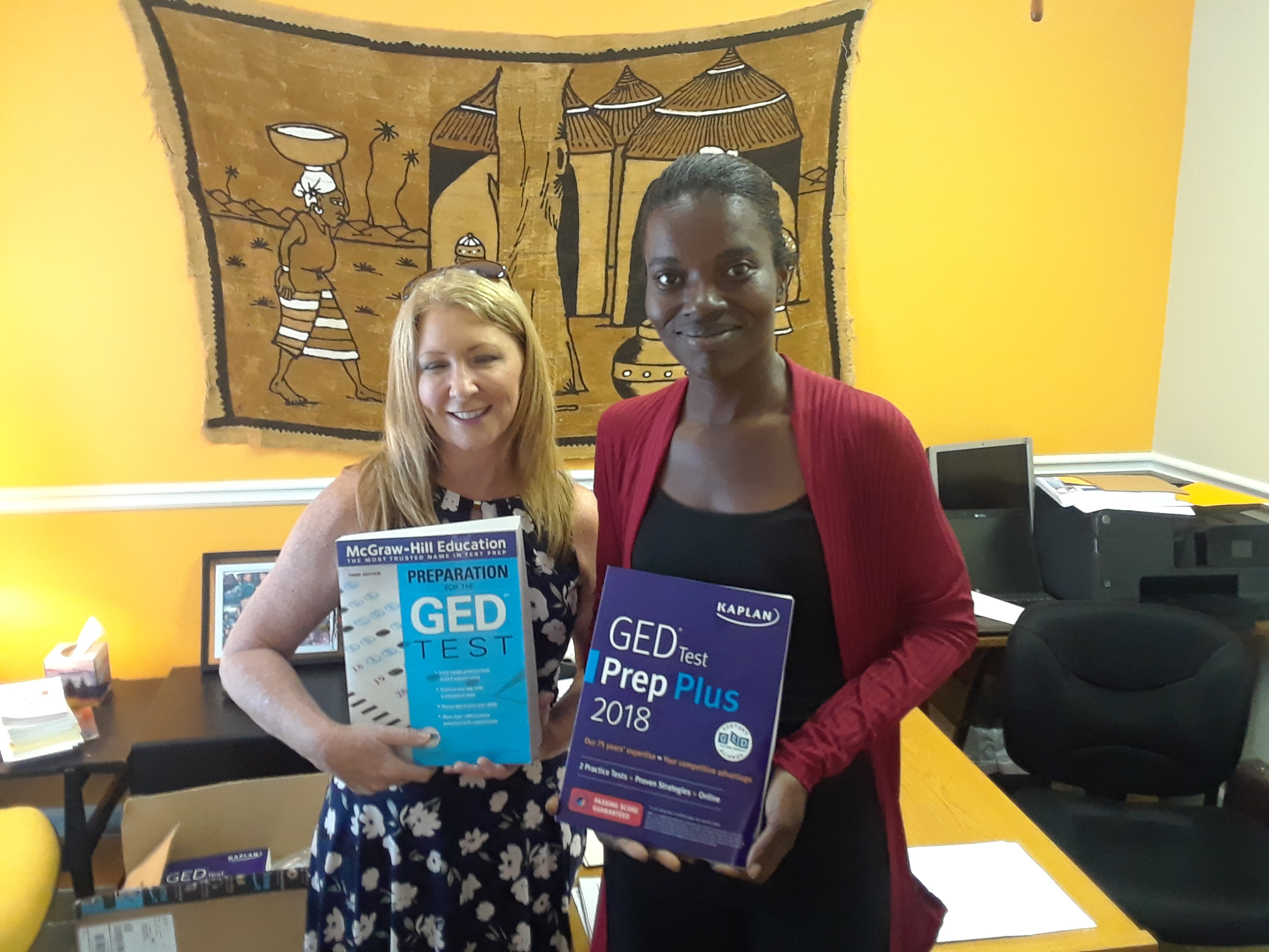 Women to the World GED Books Donation