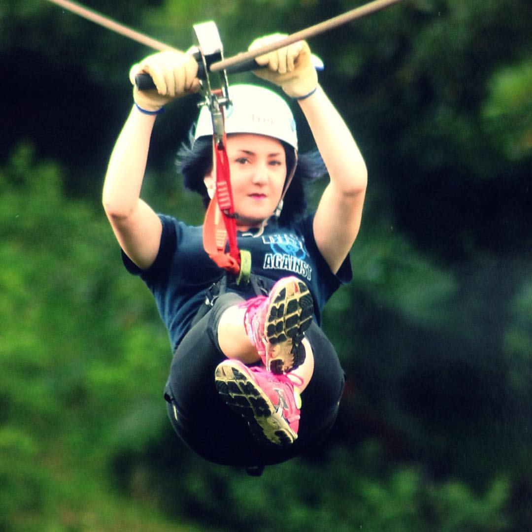 Zipline in Costa Rica during Study Abroad
